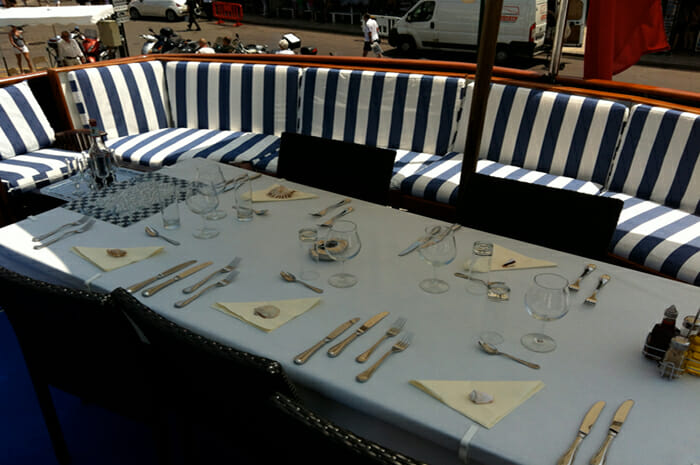 Lady Roxanne flybridge dining